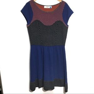 Anthropologie Sparrow Sweater Dress Color Block